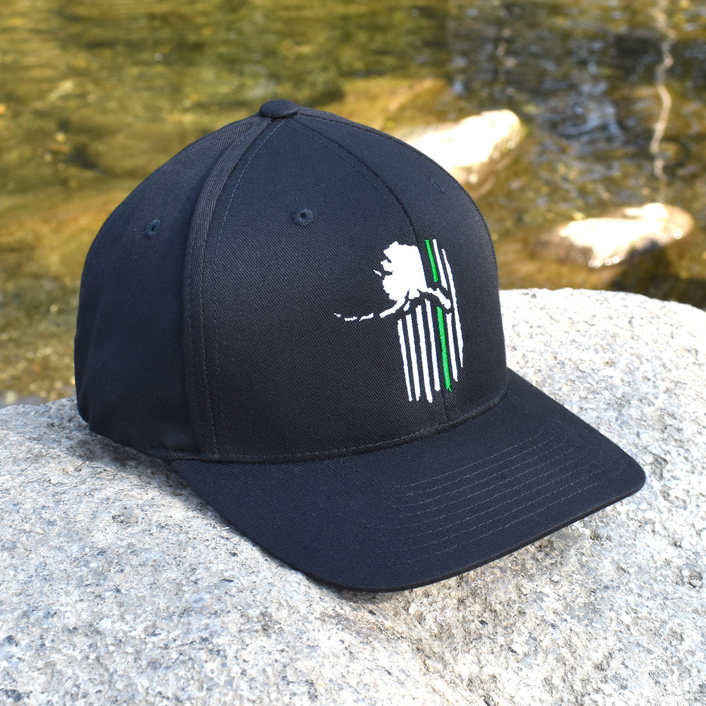Alaskan Patriot Green Line Military Support Hat