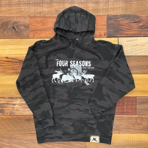 Four Seasons Black Camo Hoodie