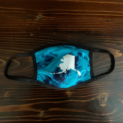 Blue Tie Dye Alaska - Cloth Face Mask