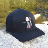 Alaskan Patriot Red Line Firefighter Support Hat