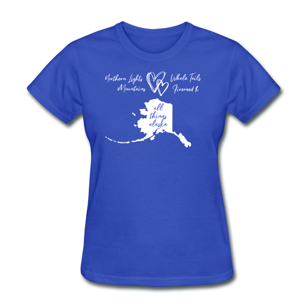 All Things Alaska Women's Tee - royal blue