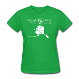 All Things Alaska Women's Tee - bright green
