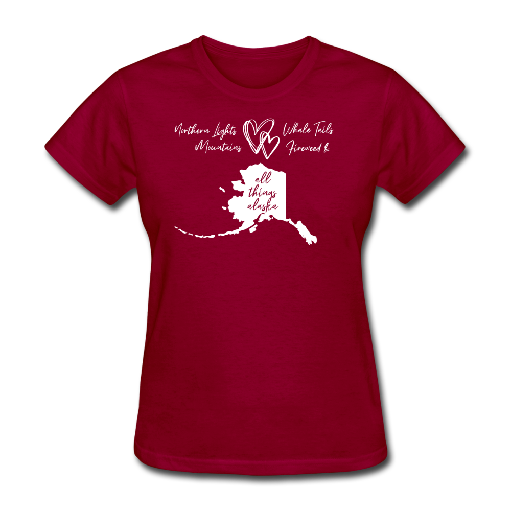 All Things Alaska Women's Tee - dark red