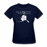 All Things Alaska Women's Tee - navy
