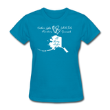 All Things Alaska Women's Tee - turquoise