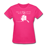 All Things Alaska Women's Tee - fuchsia