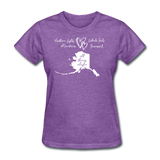 All Things Alaska Women's Tee - purple heather