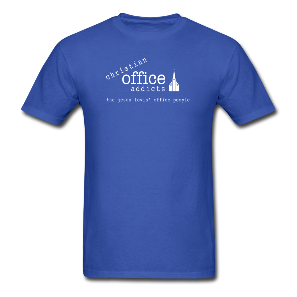 Christian Office Addicts #1 Unisex Tee - royal blue