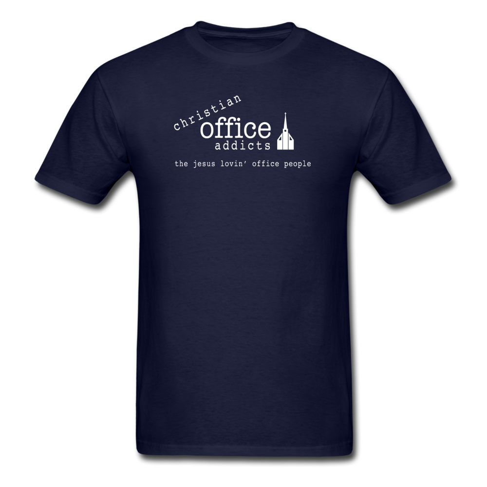 Christian Office Addicts #1 Unisex Tee - navy