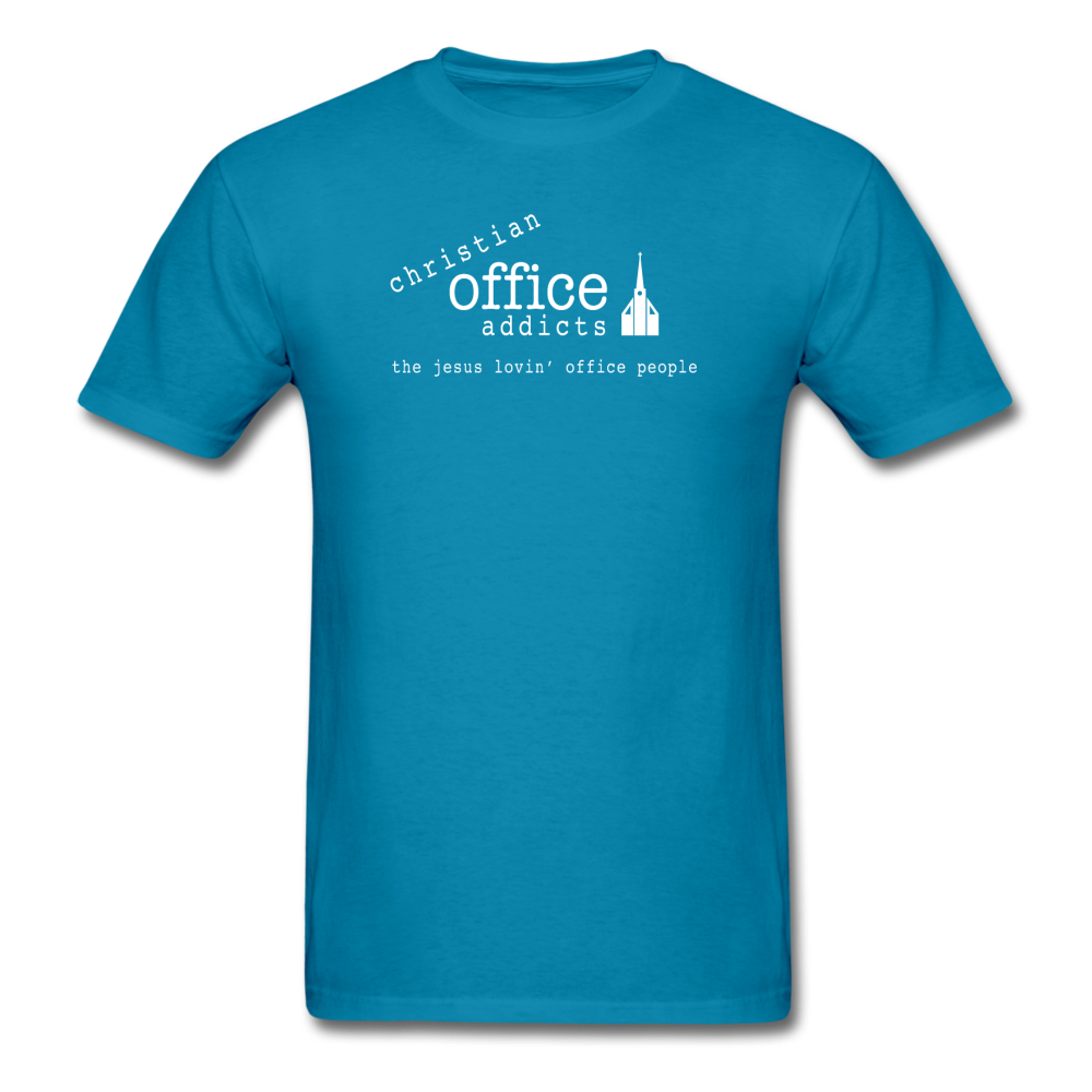 Christian Office Addicts #1 Unisex Tee - turquoise