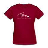Christian Office Addicts #1 Women's Tee - dark red