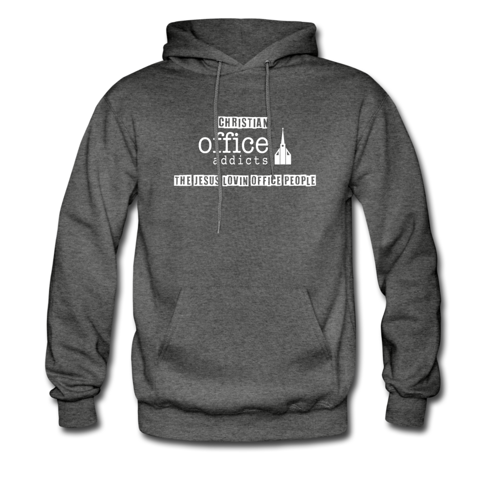 Christian Office Addicts #2 Hoodie - charcoal gray