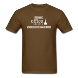 Christian Office Addicts #2 Unisex Tee - brown