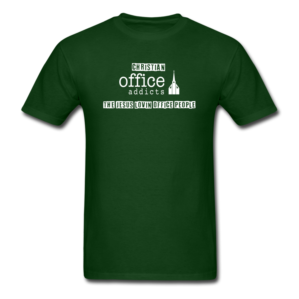 Christian Office Addicts #2 Unisex Tee - forest green