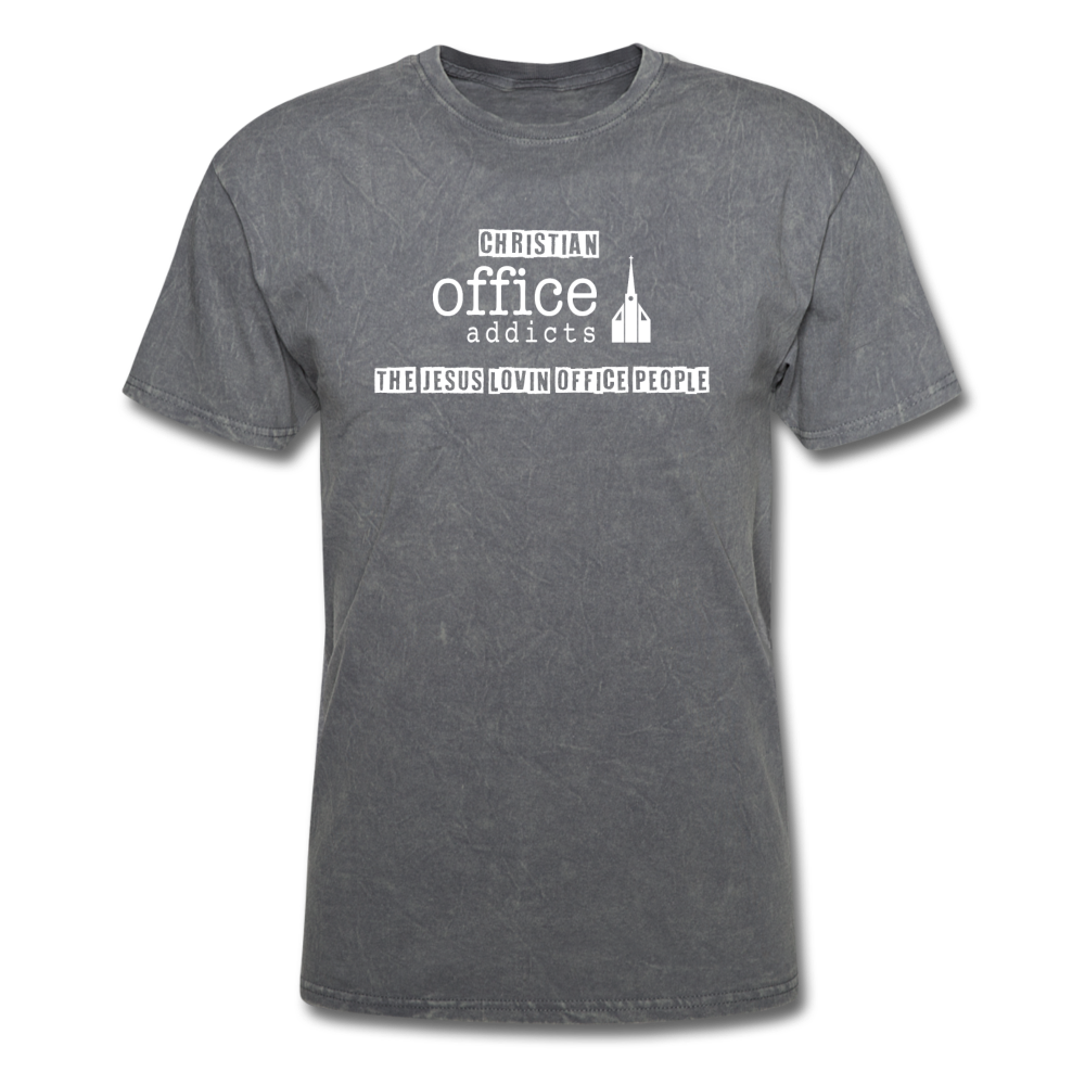 Christian Office Addicts #2 Unisex Tee - mineral charcoal gray