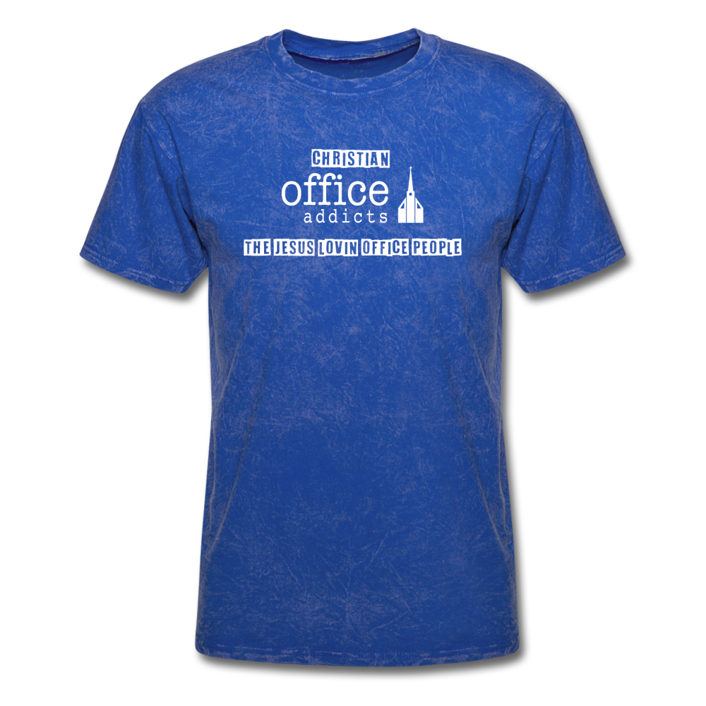 Christian Office Addicts #2 Unisex Tee - mineral royal