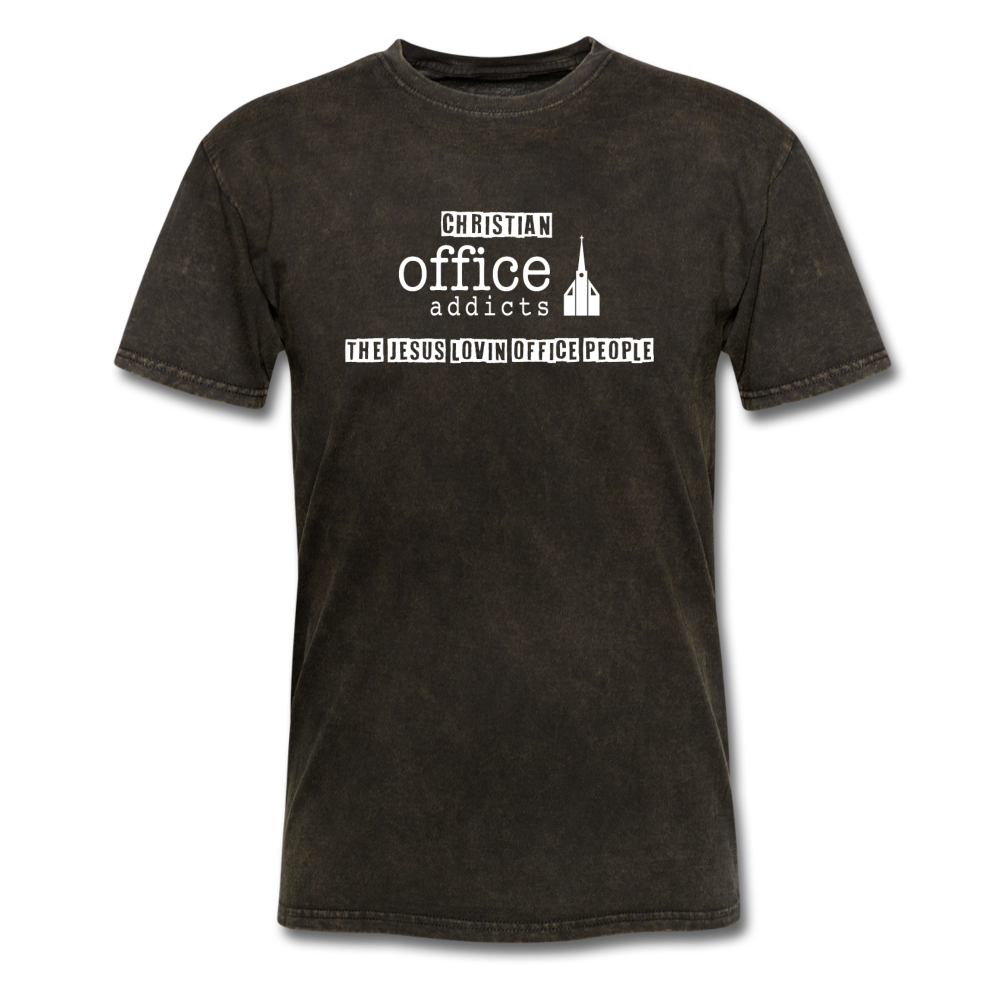 Christian Office Addicts #2 Unisex Tee - mineral black