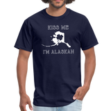 Kiss Me I'm Alaskan Men's Tee - navy