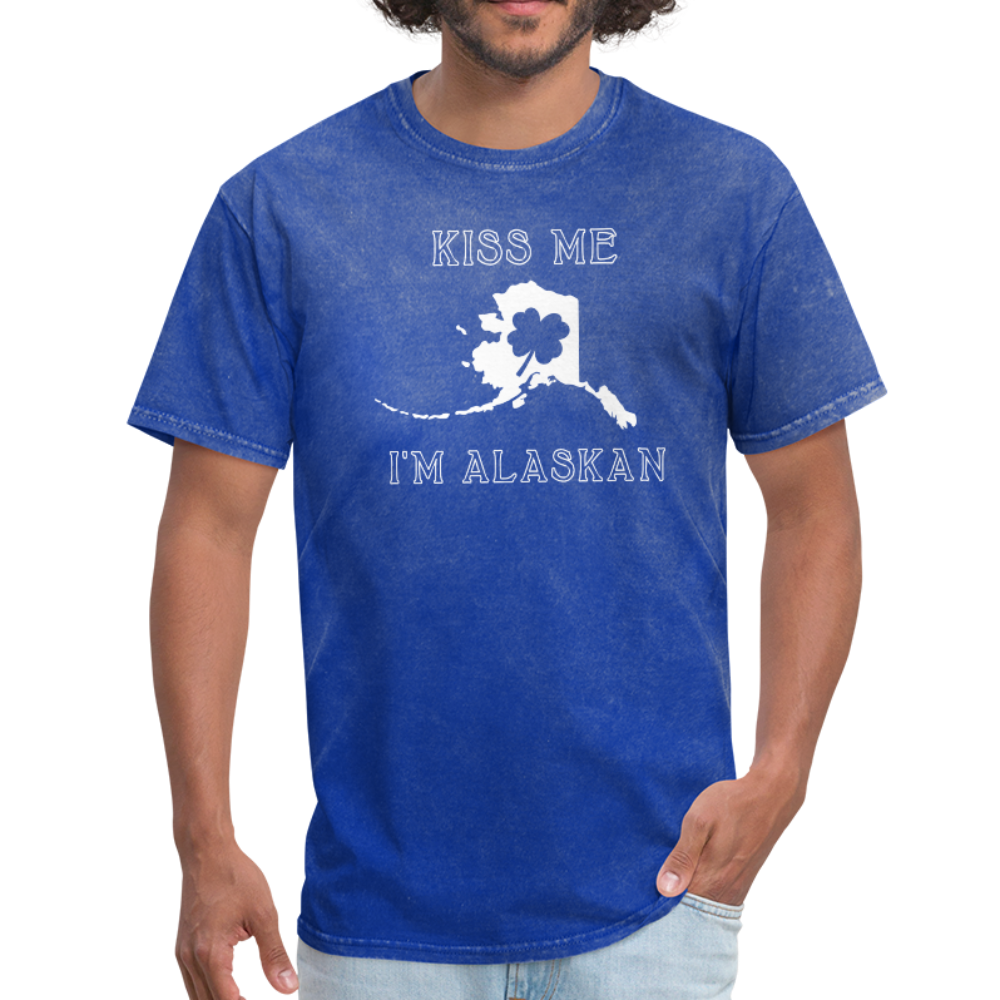Kiss Me I'm Alaskan Men's Tee - mineral royal
