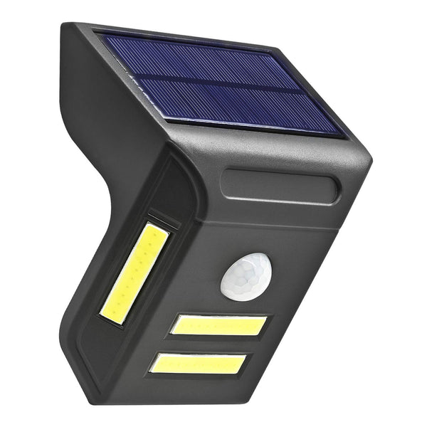 Solar Powered Outdoor Lights, Wireless 4 COB LED Waterproof Motion Sensor Solar Lights for Front Door, Back Yard, Driveway, Garage and More