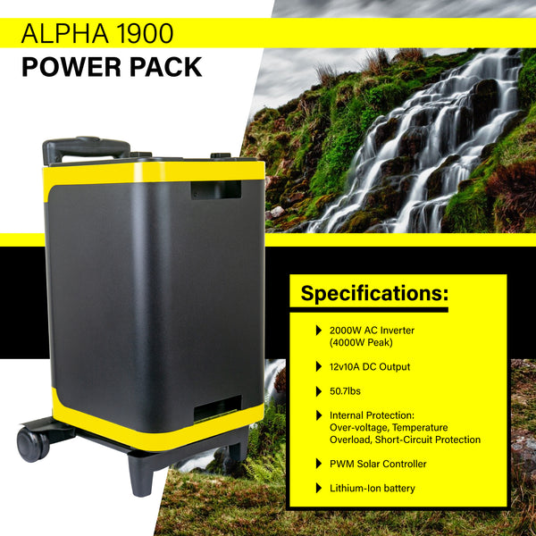 ExpertPower Alpha1900/2700 Portable Lithium Power Station with 2000W AC Inverter for Camping, Emergency and Back-up Power Supply