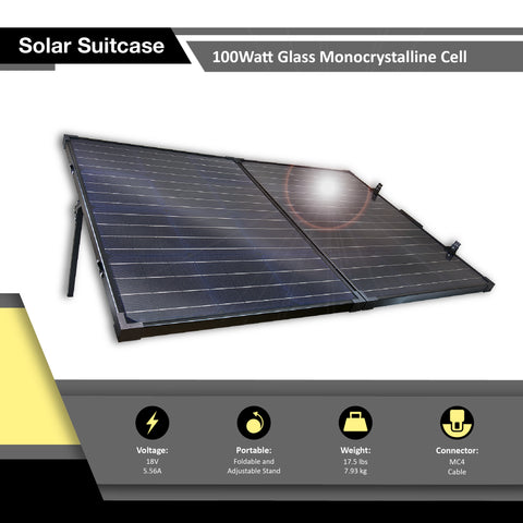 Alpha2700 + TWO 100Watt Glass Monocrystalline Solar Panel Kit
