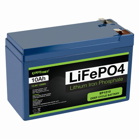 12V 10Ah LiFePO4 - EP1210 - ExpertPower Direct