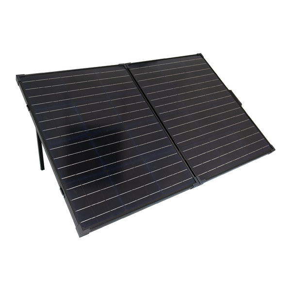 100W Glass Monocrystalline Cell Solar Panel |2pcs 50W Foldable | Build-in Stand Frame |MC 4 Connector for Solar Powered Generator and Off Grid System
