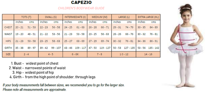CAPEZIO TB132C SHORT SLEEVE LEOTARD