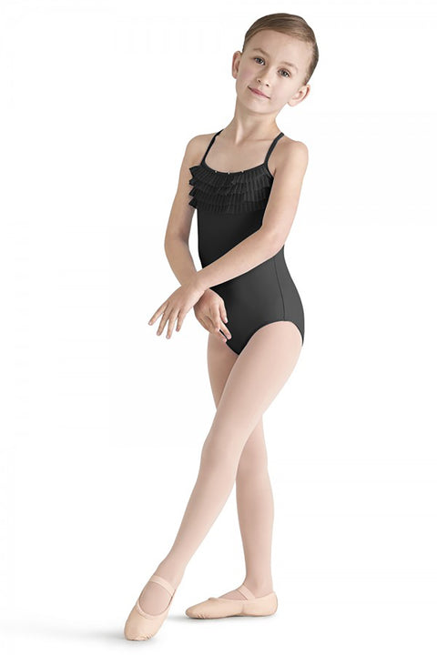BLOCH M339C GIRLS TULLE BUST CAMISOLE LEOTARD