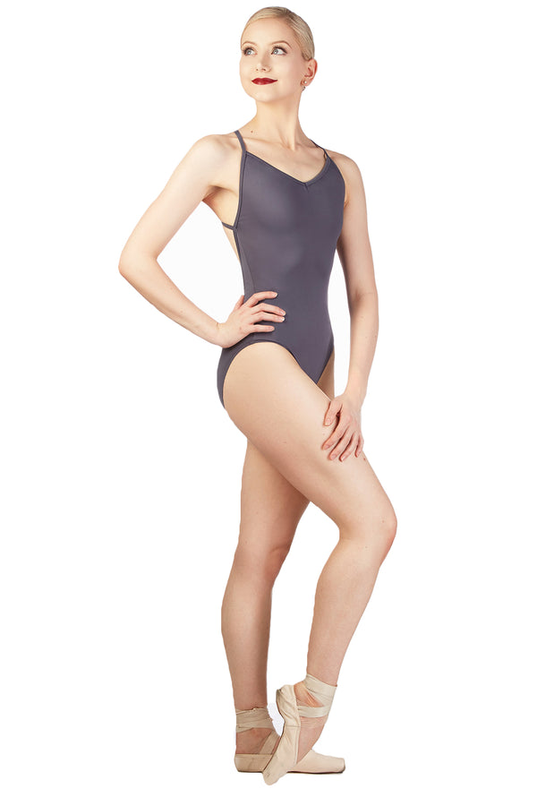 BALLET ROSA KAYLA LADIES THIN CROSS STRAP BACK LEOTARD