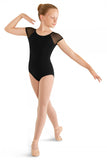 BLOCH M411C GIRLS MESH SHOULDER CAP SLEEVE LEOTARD