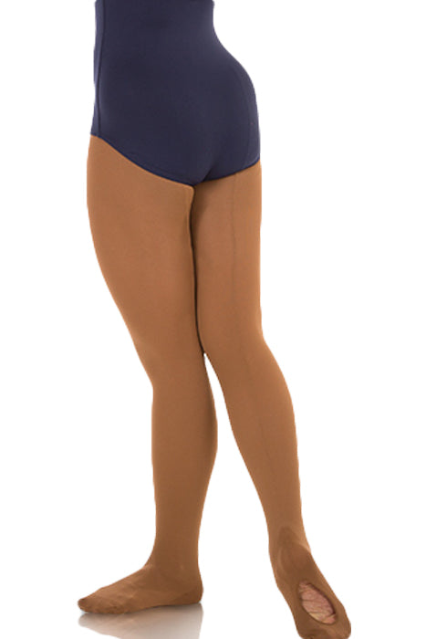 BODY WRAPPERS C45 GIRLS totalSTRETCH MESH BACK SEAM CONVERTIBLE TIGHTS