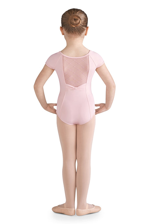 BLOCH CL9932 BRIELLE GIRLS MESH BACK CAP SLEEVE LEOTARD