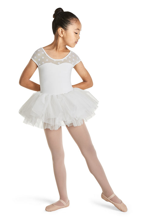 MIRELLA M1508C GIRLS CAP SLEEVE TUTU DRESS