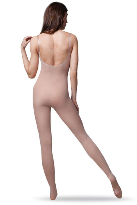 CAPEZIO 1811WULTRASOFT CONVERTIBLE BODY TIGHT WITH CLEAR STRAPS