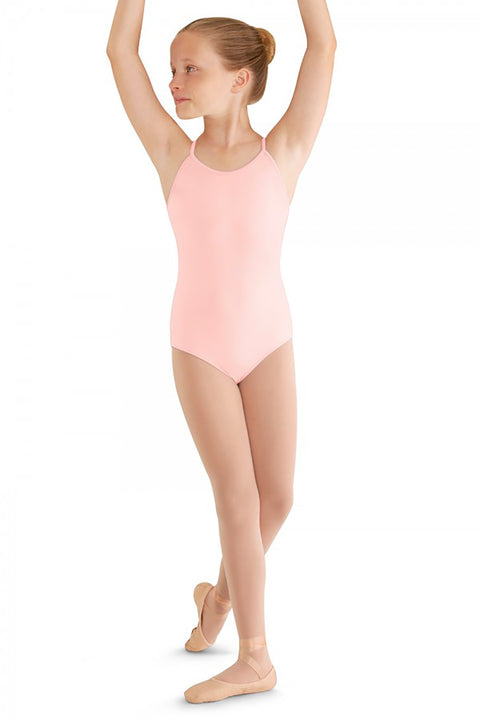 BLOCH M410C GIRLS CROSS BACK CAMISOLE LEOTARD