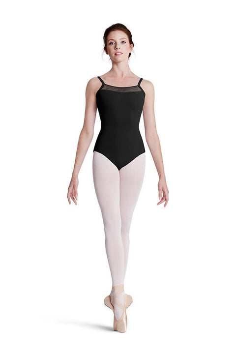 MIRELLA M2122TM TWEEN PANEL BACK CAMISOLE LEOTARD