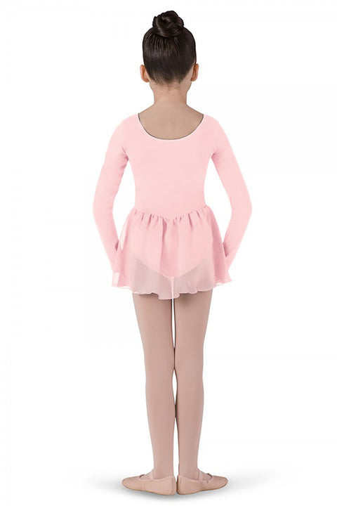 BLOCH CL5309 PETAL GIRL'S SKIRTED LONG SLEEVE LEOTARD