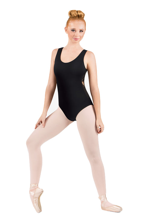 DANSHUZ 2403A LACE BACK STRAPS LEOTARDS