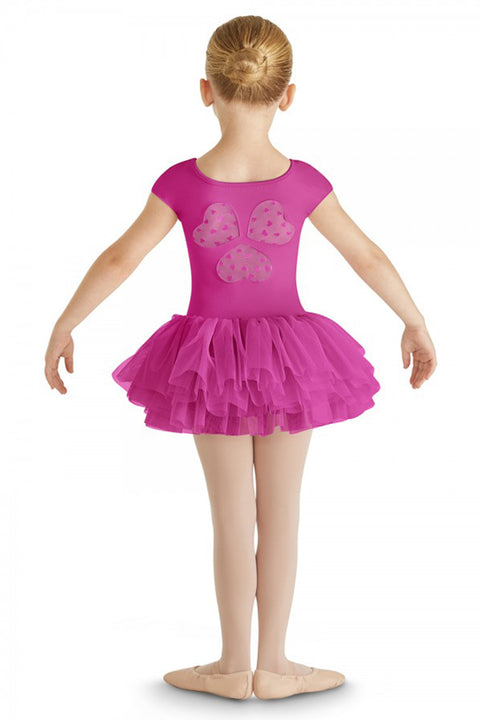 BLOCH CL8202 FREA HEART MESH CAP SLEEVE TUTU