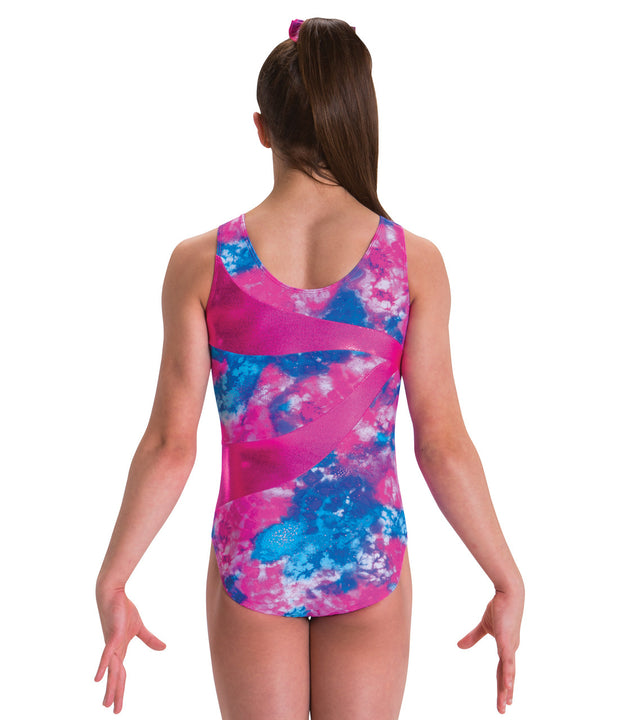 MOTIONWEAR 1526 GIRLS DOUBLE WAVES TANK LEOTARD