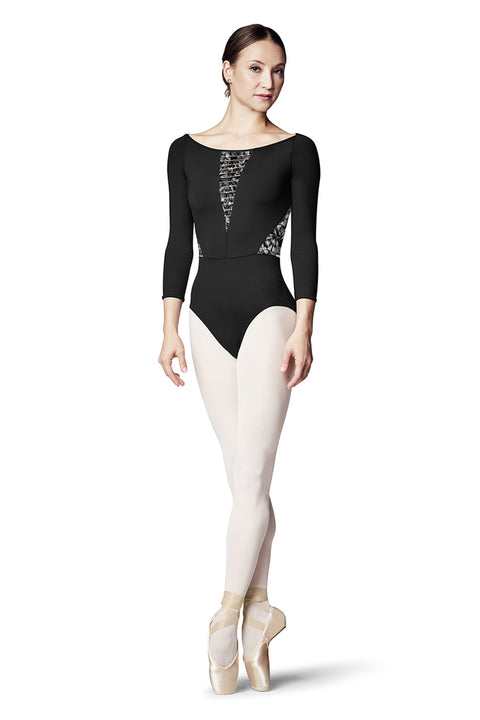 BLOCH L8926 WOMEN BOATNECK 3/4 SLEEVE LEOTARD