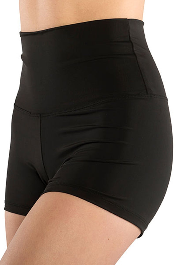 DANSHUZ 251C GIRLS SOLID HIGH WAIST BOOTY SHORT