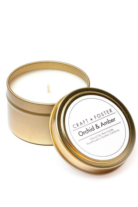 CRAFT + FOSTER NATURAL SOY WAX CANDLE 6oz.