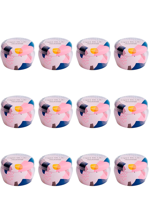 CAPRI BLUE 3 OZ LOLA BLOSSOM GALLERY COLLECTION MINI TIN CANDLE 12 PK, ONE SIZE