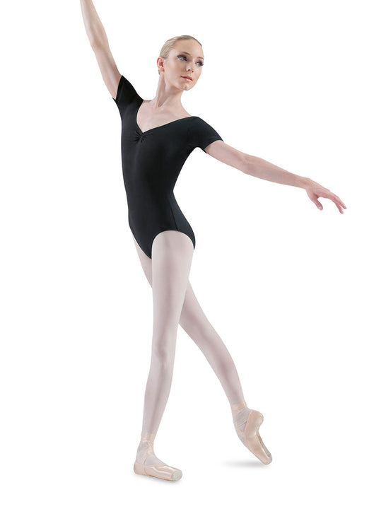 BLOCH L5432 WOMEN V-NECK SHORT SLEEVE LEOTARD