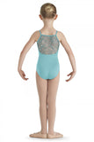 BLOCH CL7660 HELMA TULLE FRONT & BACK KIDS CAMISOLE LEOTARD