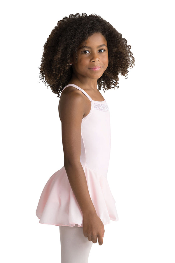 MOTIONWEAR 4295 IMOGEN GIRL'S V-STRAP INSET CAMISOLE SKIRTED LEOTARD