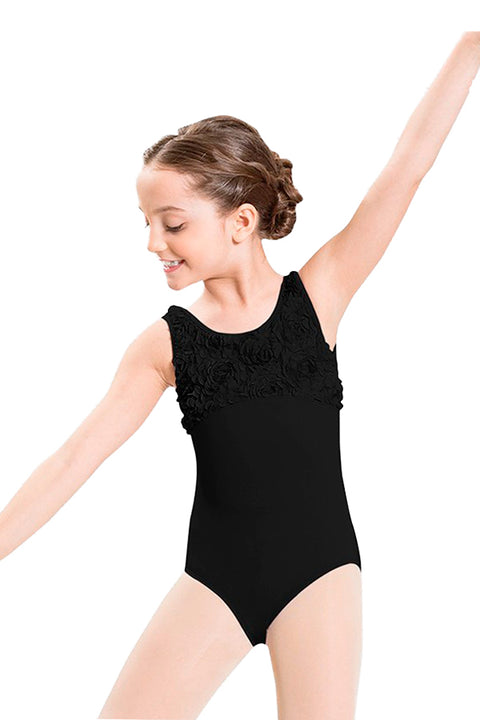 BLOCH CL7735 FLOWER FRONT BUST TANK LEOTARD